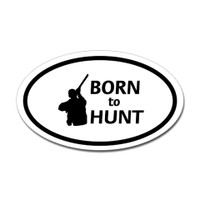 Hunting Oval Bumper Sticker #16