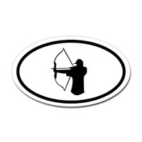 Hunting Oval Bumper Sticker #18