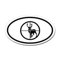 Hunting Oval Bumper Sticker #21