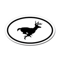 Hunting Oval Bumper Sticker #23