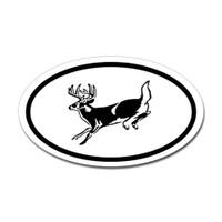 Hunting Oval Bumper Sticker #24