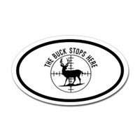 Hunting Oval Bumper Sticker