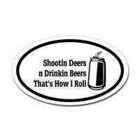 Hunting Oval Bumper Sticker #26