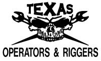 Texas Operators & Riggers Skull Decal