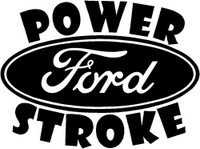 Ford Powerstroke Stacked Decal