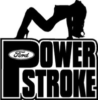 Sexy Ford Powerstroke Decal