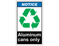 ANSI Notice Aluminum Cans Only 1
