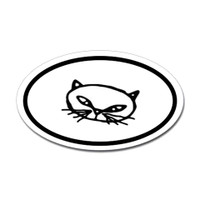 Cats Oval Bumper Sticker #25