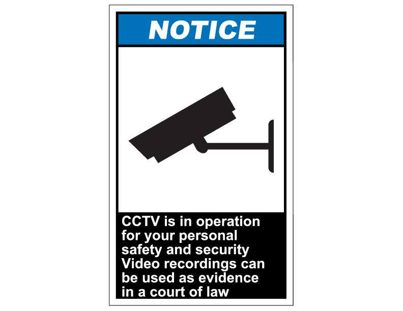 ansi notice cctv is in operation for your personal safety