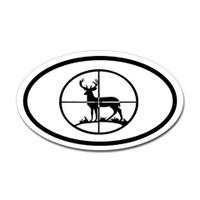 Hunting Oval Bumper Sticker #20