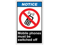 ANSI Notice Mobile Phones Must Be Switched Off 1