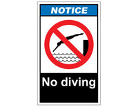 ANSI Notice No Diving 1
