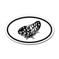 Butterfly Oval Bumper Sticker #15