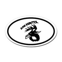Hunting Oval Bumper Sticker #19