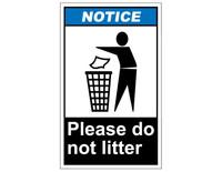 ANSI Notice Please Do Not Litter
