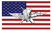 USMC Recon Jack On US Flag Sticker