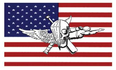 USMC Recon Jack On US Flag Sticker