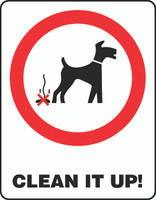 Clean It Up! (Pet Sign)