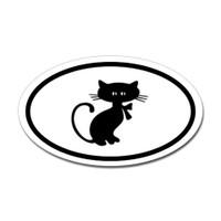 Cats Oval Bumper Sticker #18