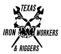 Texas Ironworkers & Riggers Skull Decal #2