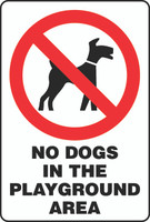 No Dogs In The Playground Area