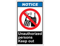 ANSI Notice Unauthorized Persons Keep Out 1