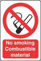 No Smoking Combustible Material