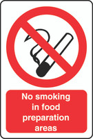 No Smoking In Food Preparation Areas