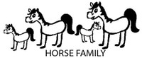 Horse Family Decals