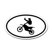 Motorcross Oval Bumper Sticker #1