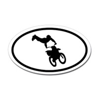 Motorcross Oval Bumper Sticker #2