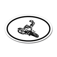 Motorcross Oval Bumper Sticker #3