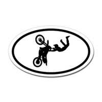 Motorcross Oval Bumper Sticker #4