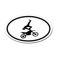 Motorcross Oval Bumper Sticker #6