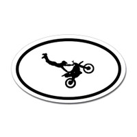 Motorcross Oval Bumper Sticker #7