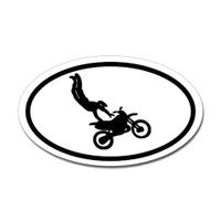 Motorcross Oval Bumper Sticker #9