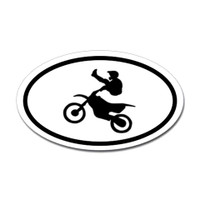 Motorcross Oval Bumper Sticker #10