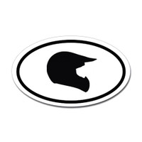 Motorcross Oval Bumper Sticker #11