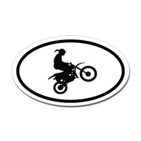 Motorcross Oval Bumper Sticker #13
