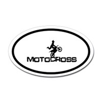 Motorcross Oval Bumper Sticker #14