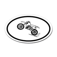 Motorcross Oval Bumper Sticker #15