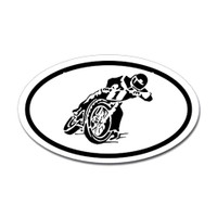 Motorcross Oval Bumper Sticker #16