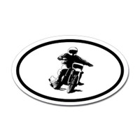 Motorcross Oval Bumper Sticker