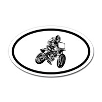 Motorcross Oval Bumper Sticker #18