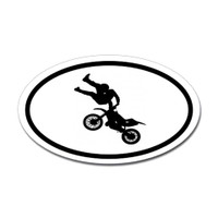 Motorcross Oval Bumper Sticker #20