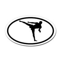 Karate Oval Bumper Sticker #2