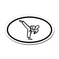 Karate Oval Bumper Sticker #3
