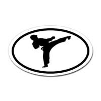 Karate Oval Bumper Sticker #4