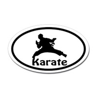 Karate Oval Bumper Sticker #6