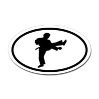 Karate Oval Bumper Sticker #8